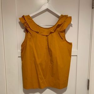 J. Crew Women's Cotton Ruffle Sleeveless Blouse